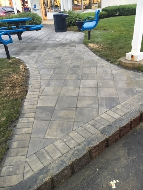 Hardscape walkway (after)