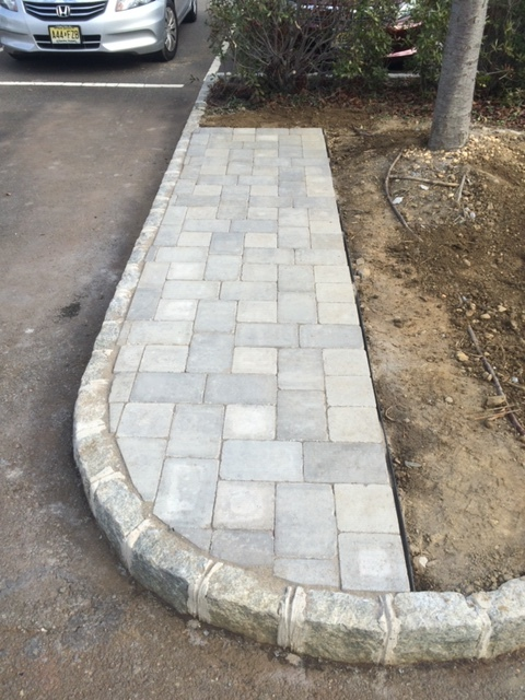 Paver area- parking lot