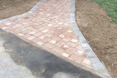 Paver walkway and landing