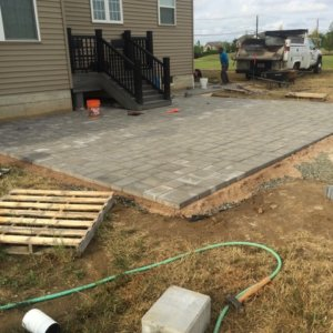 Paver Patio wfire pit-During
