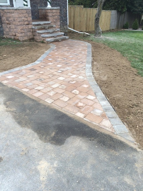 Paver Walkway After